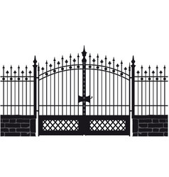 a wrought iron gate vector image
