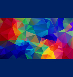 Abstract irregular polygon background neon rainbow vector