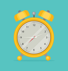 Alarm clock icon flat design style vector