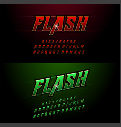 Alphabet red and green metallic and effect vector