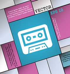 audiocassette icon sign Modern flat style for your vector image