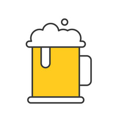 beer mug thin line icon gastronomy set vector image