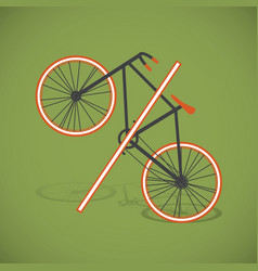 bicycle-percent vector image