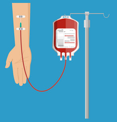 Blood donation day concept vector
