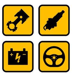 car part symbols vector image