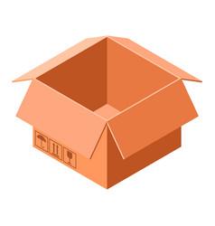 cardboard box icon isometric style vector image