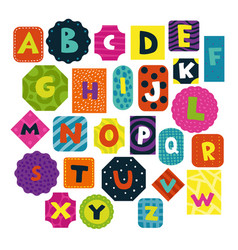 Children alphabet set vector