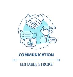 Communication concept icon vector
