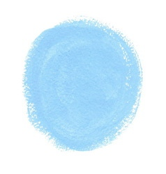 Cyan acrylic paint circle vector