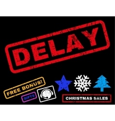 Delay Rubber Stamp vector