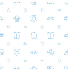 Delivery icons pattern seamless white background vector