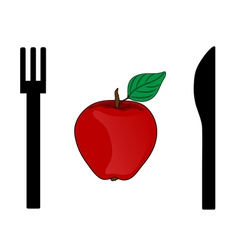 eating apple vector image