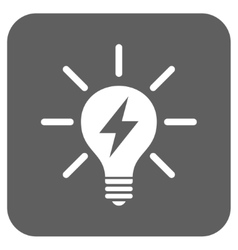 Electric Light Bulb Flat Squared Icon vector
