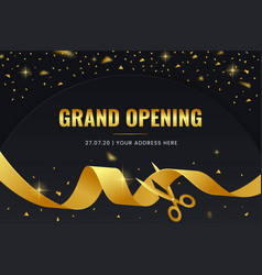Elegant grand opening background vector