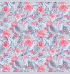 feather and flower pattern vector image
