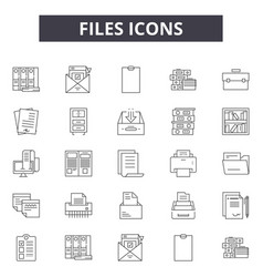 files line icons for web and mobile design vector image