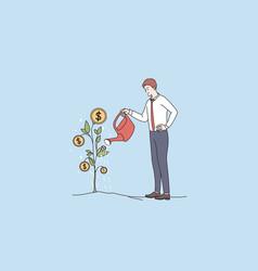 financial success wealth profit concept vector image