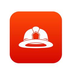 Fireman helmet icon digital red vector