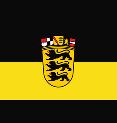 Flag of baden-wuerttemberg the land of germany vector