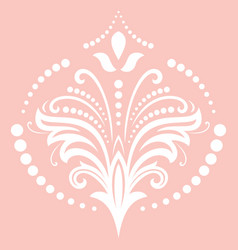 floral pattern with pink arabesques vector image