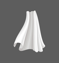 Flying silk textile white soft cloth blowing in vector