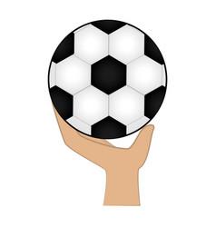 football soccer balloon emblem vector image