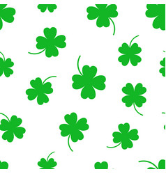 Four leaf clover seamless pattern background vector