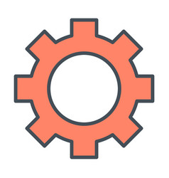 Gear wheel icon options preferences symbol vector