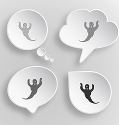 Ghost White flat buttons on gray background vector