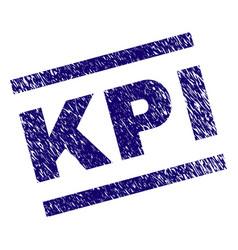 Grunge textured kpi stamp seal vector