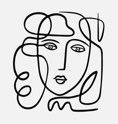 Hand drawn abstract face in vector