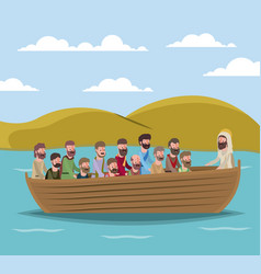 Holy week biblical scene vector