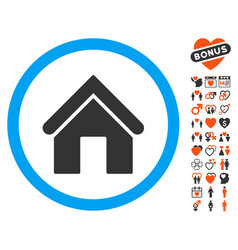 home icon with dating bonus vector image