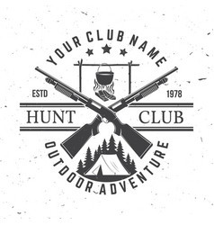 hunting club concept for shirt print vector image