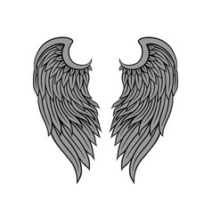 Icon of gorgeous bird or angel wings with vector