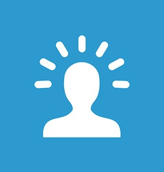 idea icon white on the blue background vector image