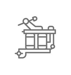 Induction tattoo machine equipment line icon vector