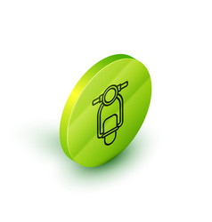 Isometric line scooter icon isolated on white vector