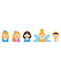 Kids wearing different costumes banner template vector