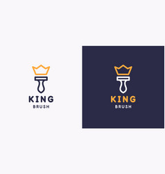 king brush emblem hand tool for home renovation vector image