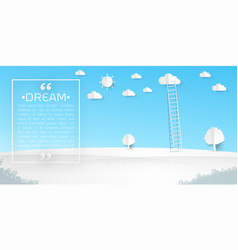 Ladders with clouds vector