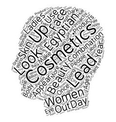 Make up Across the Ages text background wordcloud vector