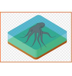 Octopus isometric vector