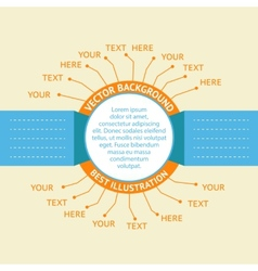 Orange Infographic badges vector image vector image