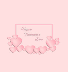 pink heart and square vector image