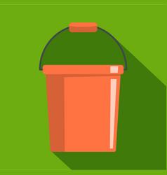 plastic bucket icon flat style vector image