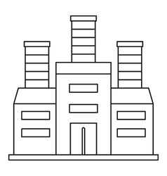Refinery icon outline style vector