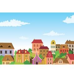 retro houses vector image vector image