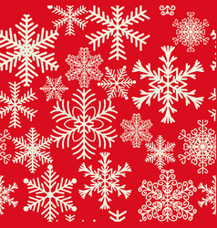 seamless pattern of snowflakes of different vector image