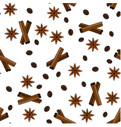 seamless pattern with coffee grains vector image